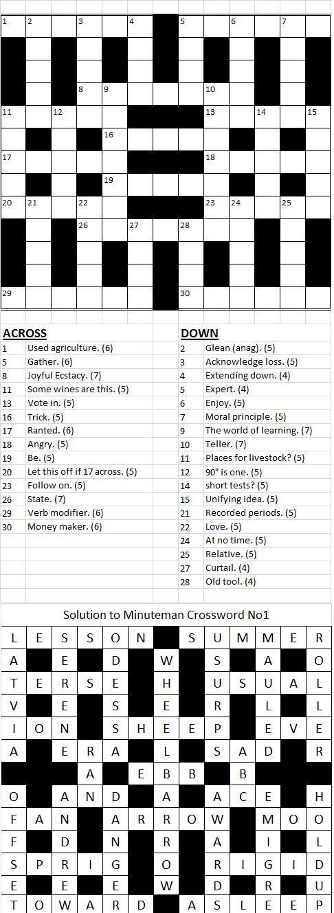 Minuteman Crossword Number 2