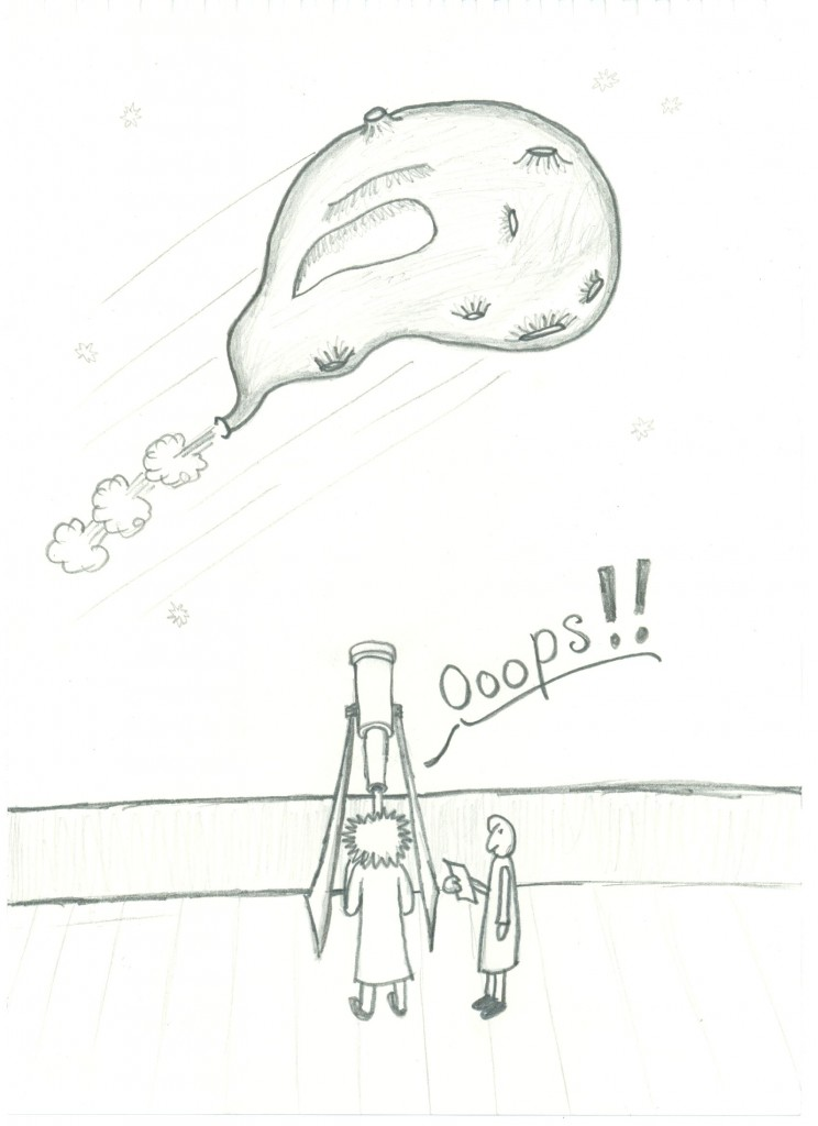 Moon experiment cartoon