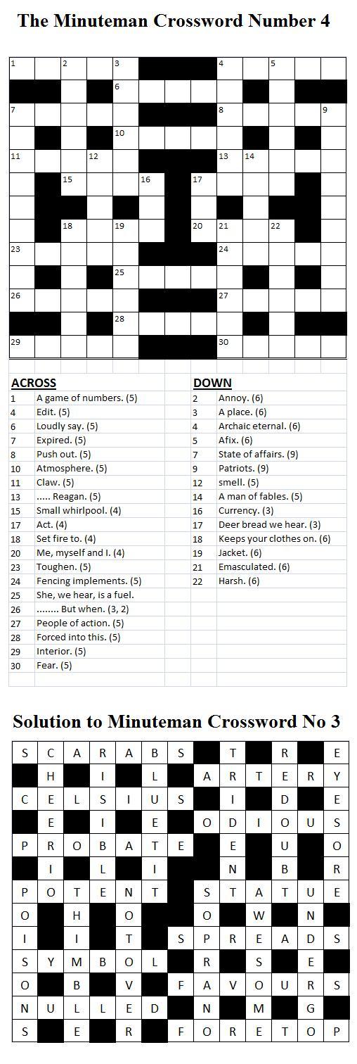 Minuteman Crossword Number 4