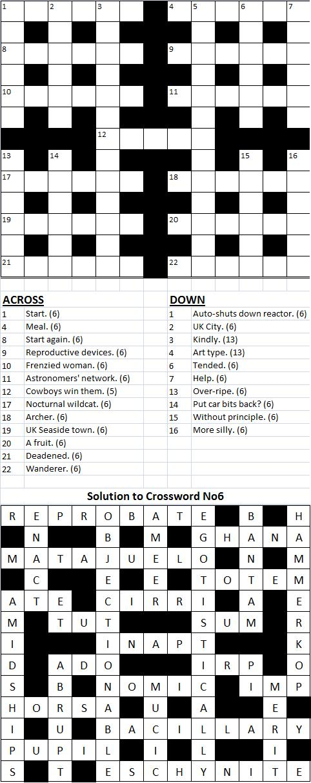 Crossword No 7