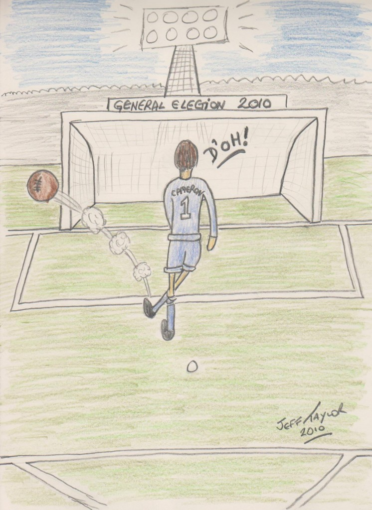 ... and Cameron can't fail to score from here! ...