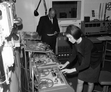 Delia Derbyshire in the BBC Radiophonic Workshop