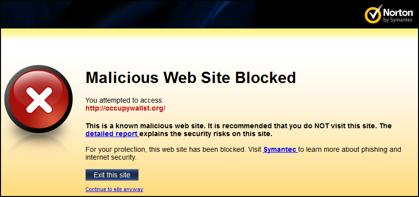 OWS Site Blocked