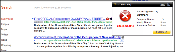 OWS site blocked 2