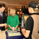 NICK CLEGG VISITS McDONALD'S UK TRAINING CENTRE By DANIEL LYNCH