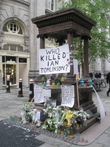 Ian Tomlinson Tributes by Basher Eyre