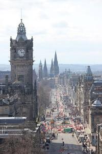 Princes Street Edinburgh by Julian Nitzsche
