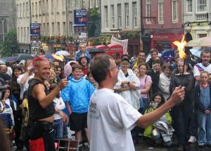 Edinburgh Fringe street performance