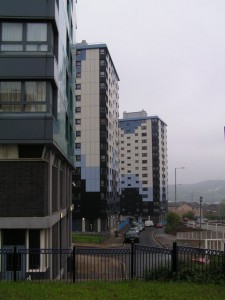 Blocks of flats by Nigel Chadwick using a KONICA MINOLTA DIGITAL CAMERA