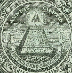 Dollar Note detail (PD)-pyramid and all-seeing eye