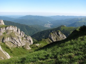 Lovely view of the CiucaÅŸ mountains, Prahova County, Romania. By The Vindictive