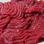 Basashi-raw horsemeat (by Richard W.M. Jones)