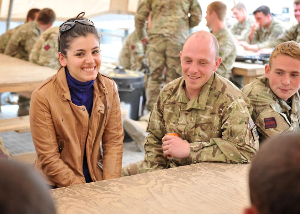 Katie Melua in Afghanistan