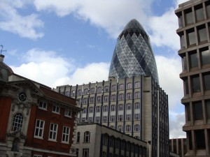 Gherkin Building by Sarah Wetherell