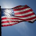 US Flag Backlit by Jnn13