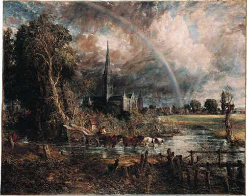 Constable - Salisbury Cathedral from the Meadows 1831