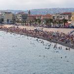 Beach in Nice by Myrabella