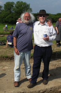 Mick Aston (left) with producer Tim taylor (PD)