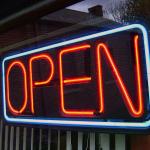 Open Sign by Aaron Pruzaniec