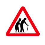 Frail or disabled pedestrian warning (UK) - Open Govt Licence