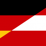 German and Austrian Flags Collage (PD)