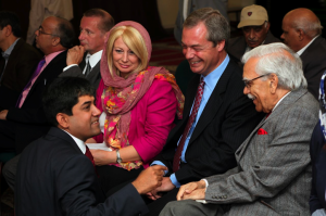 Nigel Farage Jane Collins and Mujeeb Bhutto