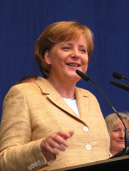 Angela Merkel by Ralf Roletschek via Wikimedia Commons