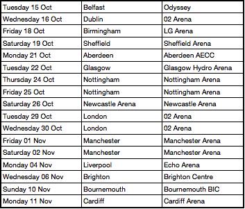 Jessie J Tour Dates