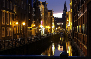 Amsterdam by drobm from Amsterdam the Netherlands via Wikimedia Commons
