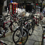 Bicycles in London by Stephen McKay via Wikimedia Commons