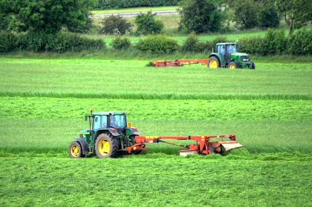 Cutting the silage by Mick Garratt