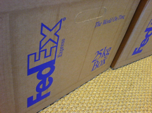 Fedex Boxes by Jacob Botter via Wikimedia Commons