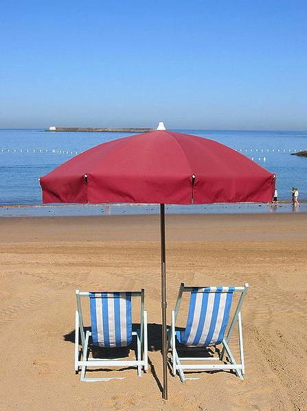 La plage de St Jean de Luz via Wikimedia Commons