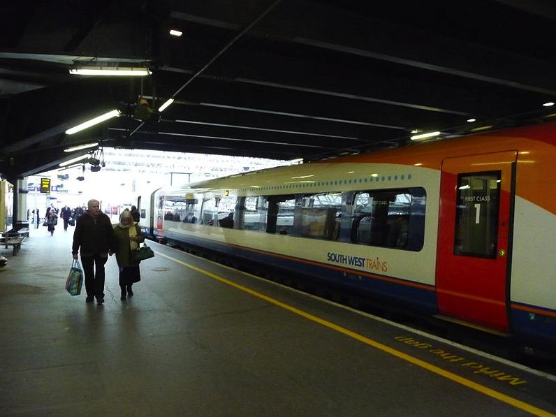 Waterloo Train Station by Lewis Clarke via Wikimedia Commons