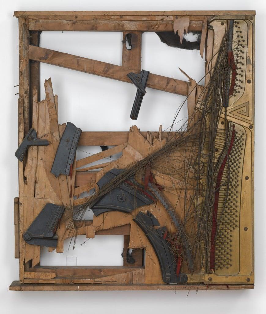 Piano destroyed in Destruction in Art Symposium in 1966