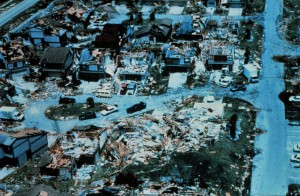 Destruction post Hurricane Andrew