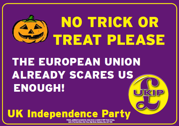 UKIP No Trick or Treat Please