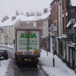 Asda delivering in the Snow by Gpmg