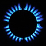 Gas stove blue flames by Marina Burity from Santo Andre Brazil