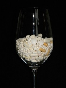 Pills in  Glass by Pollo