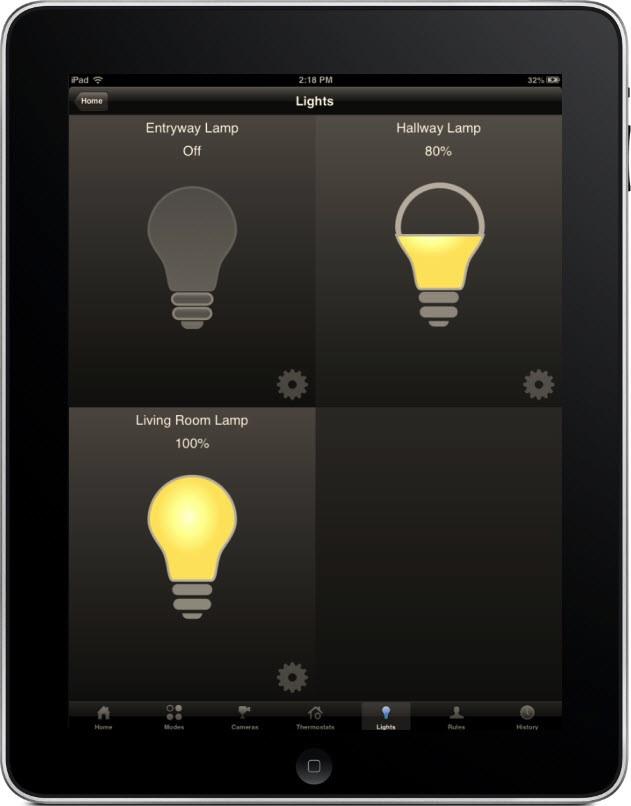 Touchstone iPad Lights
