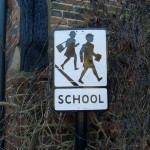 Old Style School Sign by David Hillas