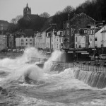 Cyclone Friedhelm batters the coast of Inverclyde Scotland on 8 December 2011 by easylocum
