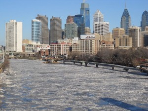 Frozen Schuylkill River Philadelphia Jan 7 2014 by Shuvaev