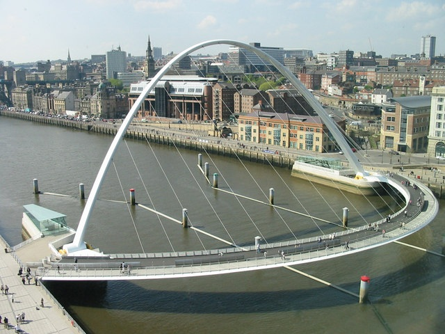 Gateshead Millennium Bridge and Quayside from The Baltic by Ian Drummond