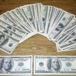 100 US Dollar banknotes (PD)