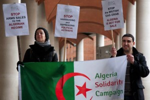 Algeria Gas and Arms protest