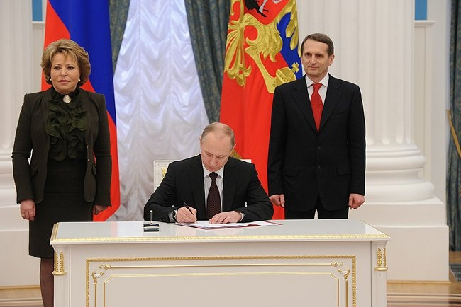 Ceremony signing the laws on admitting Crimea and Sevastopol to the Russian Federation - www.kremlin.ru