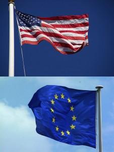 US-EU Flags - FreeFoto.com