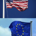 US-EU Flags - FreeFoto.com